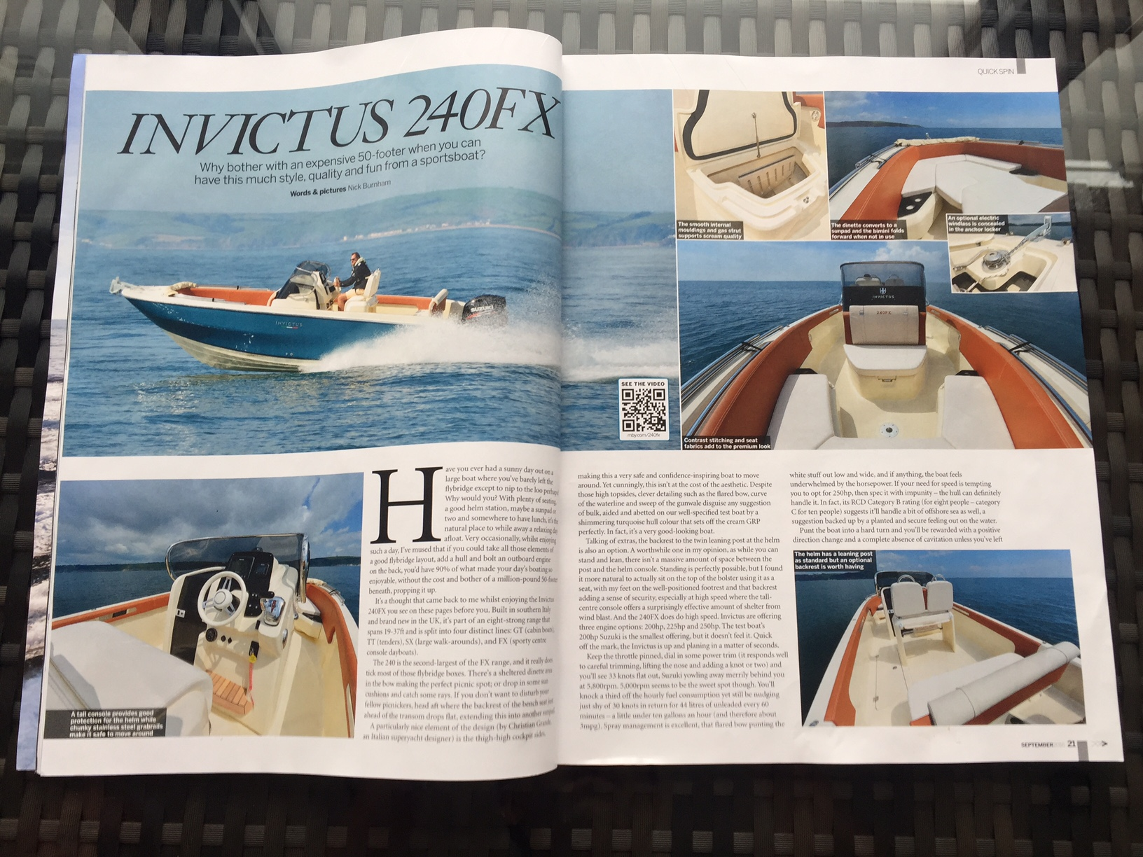 Invictus 240FX Motor Boats and Yachting August 2016 Edition.